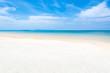 Empty sand beach with sea on tropical beach