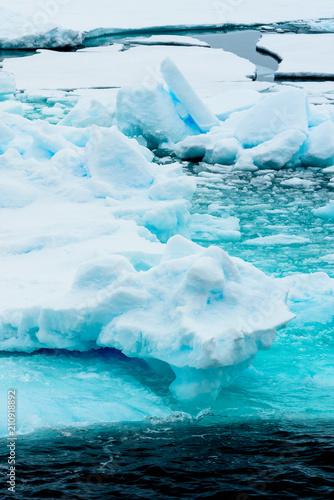 Foto op Aluminium Fantasie Landschap Ice pieces on the water in Arctic