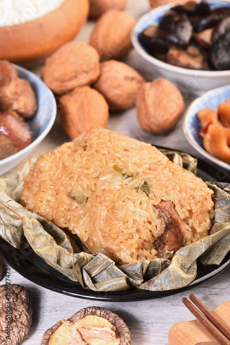 Chinese tradition food - steamed rice dumpling © lcc54613