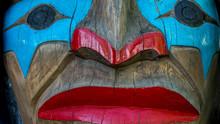 Close Up Totem Pole Face