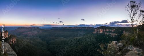 Fotografia, Obraz Sunrise Panorama at Ecco Point in Blue Mountains, Katoomba, New South Wales, Aus