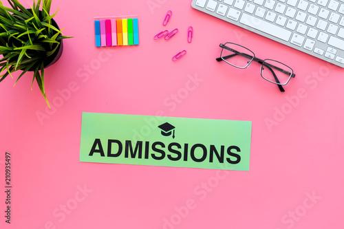 College admission concept Canvas Print