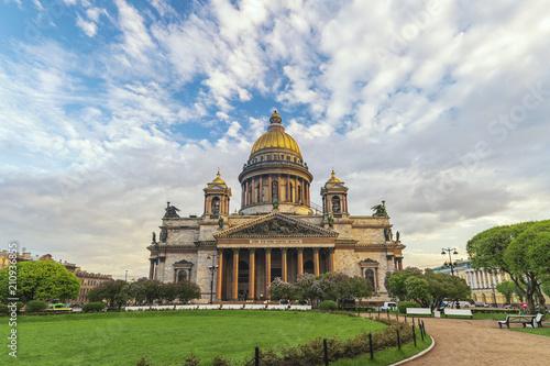 Poster Asia land Saint Petersburg city skyline at Saint Isaac Cathedral, Saint Petersburg, Russia