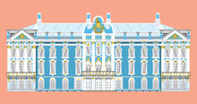 Vector Of Catherine Palace