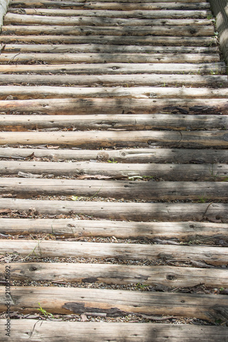 Alte Holzdielen Im Wald Als Holzweg Buy This Stock Photo And