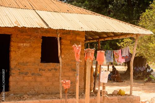 Printed kitchen splashbacks Indians House in Guinea Bissau, western Africa