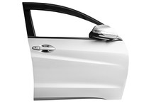 Front Car Door Isolated On Whi...