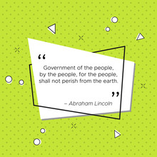 Quote Of Abraham Lincoln, Pres...
