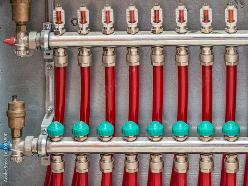 Main Control manifold of floor heating system Canvas-taulu