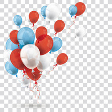 Blue Red White Balloons Shadow...