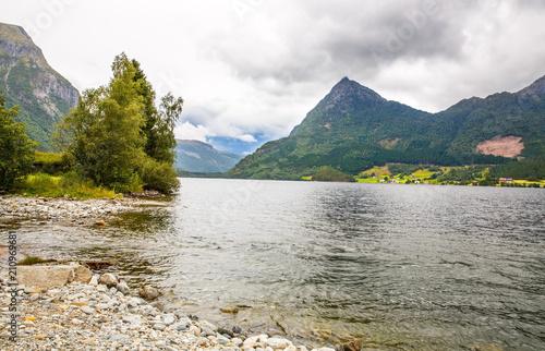 Staande foto Scandinavië Landscape in Norway