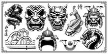 Samurai Design Elements.
