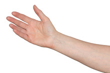 Caucasian Woman's Hand Reachin...