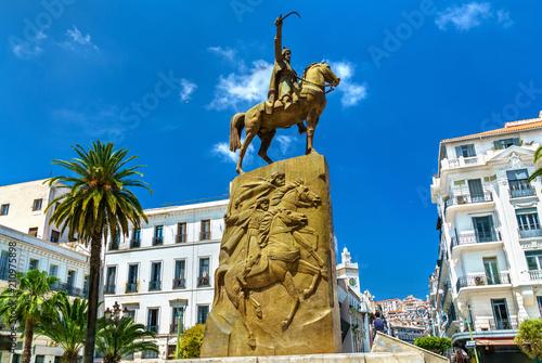 Monument to Emir Abdelkader El Djezairi in Algiers, Algeria