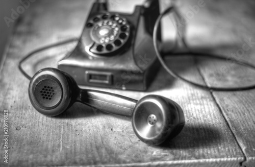 Photo Un antico apparecchio telefonico