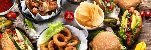 Cuadros en Lienzo American food. Fast food