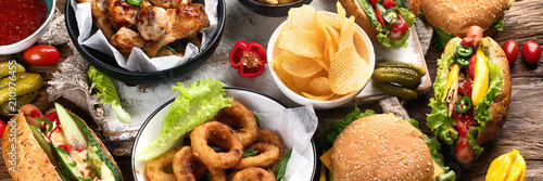 Fotografie, Obraz American food. Fast food