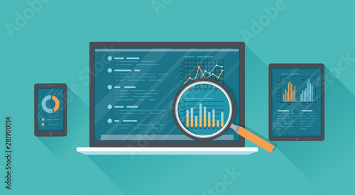 Photo Online audit, research, analysis concept