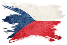 Grunge Czech Republic Flag. Cz...