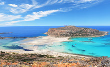 Famous Balos Lagoon On Greece ...