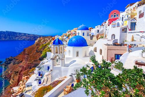 Obraz Oia, Santorini island, Greece, Europe - fototapety do salonu