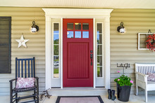 Red Door Farmhouse Front Porch...