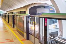 Train Lrt Subway Station. Singapore
