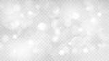 Abstract transparent light background with bokeh effects in gray colors. Transparency only in vector format