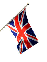 Union Jack National Flag Of The United Kingdom Cut Out And Isolated On A White Background