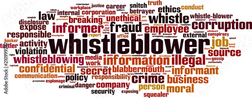 Cuadros en Lienzo Whistleblower word cloud