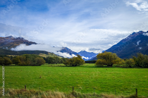 Deurstickers Oceanië New Zealand countryside landscape