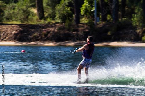 Fotografie, Obraz  ski nautique