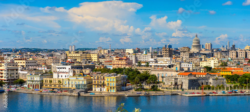 Photo  Panoramic view of Havana, the capital of Cuba
