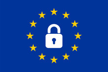 The Flag Of The EU With A Padl...