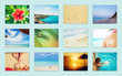 Collage photo sea travel. Selective focus.