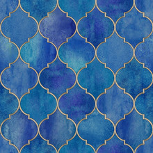 Vintage Decorative Moroccan Seamless Pattern.