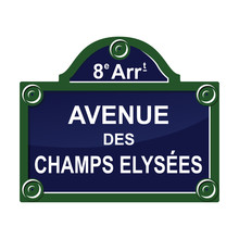 Paris Street Avenue Plate Sign Symbol