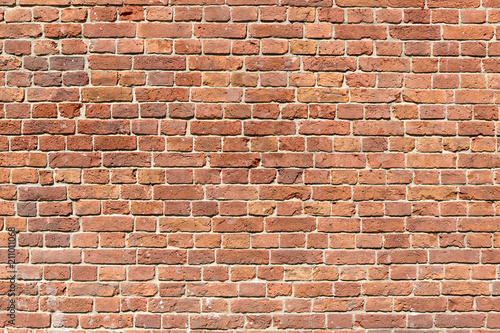 Fond de hotte en verre imprimé Brick wall Background of red brick wall pattern texture.