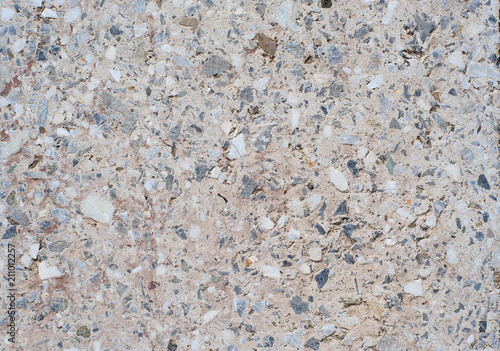 Foto op Canvas Stenen The texture background of a light granite tile interspersed with stone for design. Granite slab, marble texture
