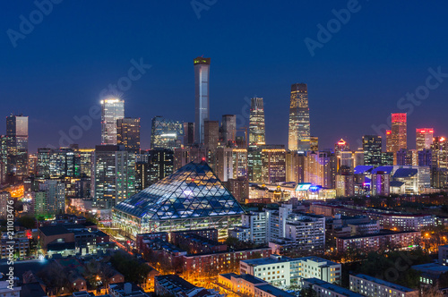 Cadres-photo bureau Pekin Beijing CBD skyline night view