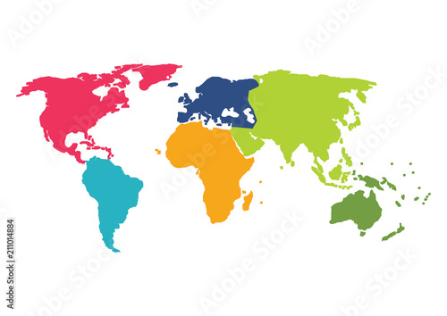 World map, Australia, Asia, Africa, Usa. Globe world map concept ...