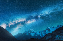 Milky Way And Snowy Mountains....