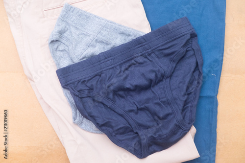 Fototapety, obrazy: Blue and gray of male underwear