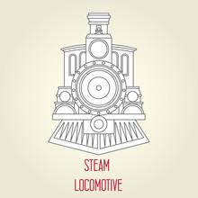 Old Steam Locomotive Front Vie...