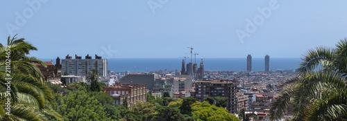 fototapeta na drzwi i meble Panoramic view of Barcelona