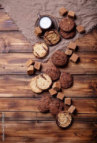 Tuinposter Koekjes Fudge with cookies