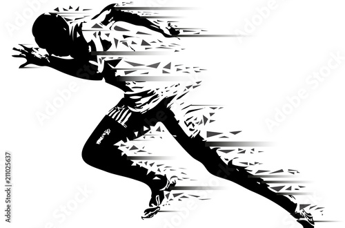 Atleta in corsa Canvas Print