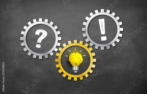 Fotografie, Obraz  Frage / Problem  mit Idee zur Lösung / Antwort