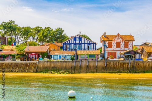 Coastline of Arcachon bay in France Wallpaper Mural