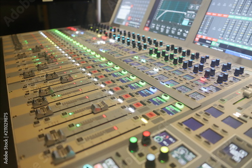 Fotografie, Obraz  Modern Audio mixing console